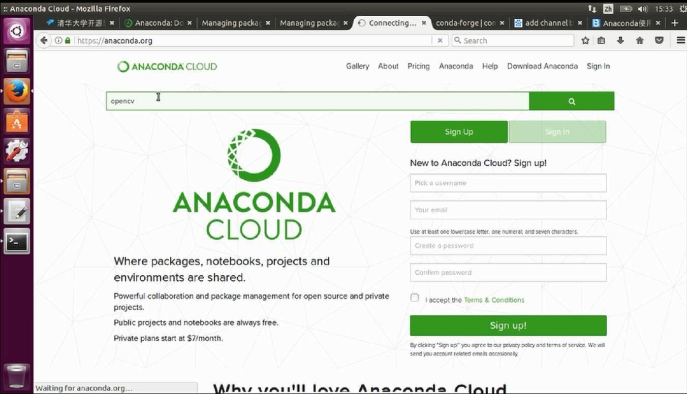 在Ubuntu下利用Anaconda安装python-opencv的过程_20180116224803