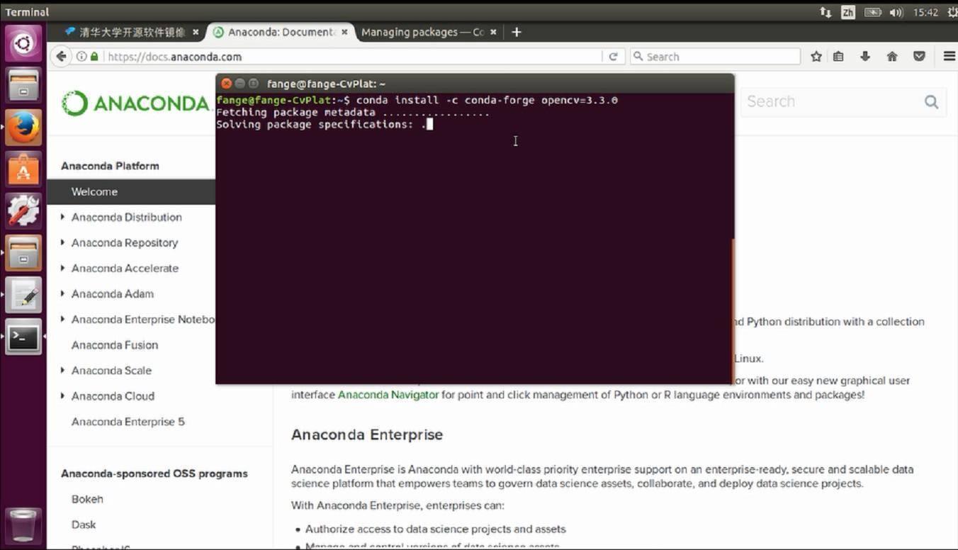 在Ubuntu下利用Anaconda安装python-opencv的过程_20180116225404